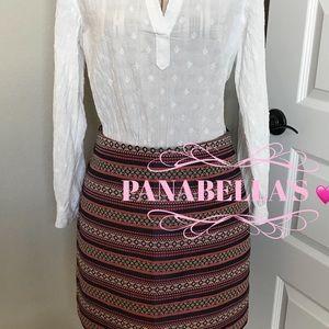 LOFT Ribboned Skirt